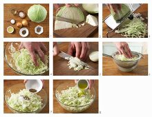 How to prepare white cabbage salad with caraway