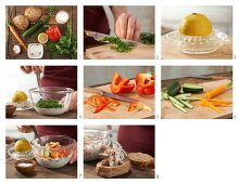 How to prepare a bread roll with a vegetarian filling