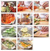 How to prepare gnocchi and asparagus bake with ham