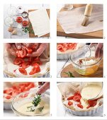 How to prepare a cream cheese tart with tomato and mint