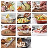 How to prepare vegetable gratin with chicken breast strips
