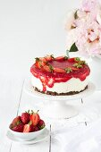 Strawberry & yoghurt tart