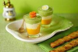 Insalata russa (a layered vegetable dish with mayonnaise, Italy)