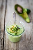 Avocado & cucumber soup with cress