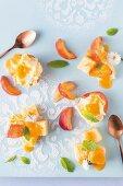 Peach & lemon summer pudding