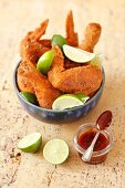 Tex-Mex-style chicken with lime and BBQ sauce