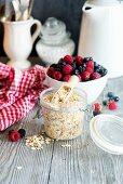 Oats and fresh berries