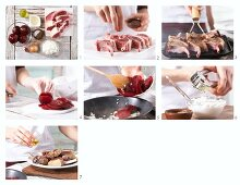 How to prepare grilled lamb chops with beetroot