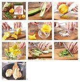 How to prepare turkey escalates with orange and cucumber salad