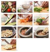 Tofusalat mit Gurken, Paprika und süss-saurem Cashew-Pesto zubereiten