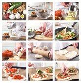 How to prepare potato pizza with chanterelle mushrooms