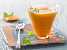 Sea buckthorn and sauerkraut juice with lemon balm