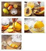 How to prepare papaya and mango shake with apple juice