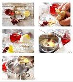 Cranberry-Gewürzpunsch mit Nelken und Ingwer zubereiten