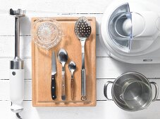 Kitchen utensils for making ice cream and sorbet