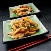 Chuka ika sansai (Japenese squid salad with vegetables and sesame seeds)