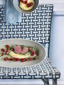 Fillet of veal with herbs and sour milk polenta