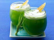 Grape and celery juice with wheatgrass