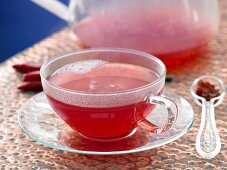 Rosehip and chilli tea with rooibos