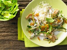 Turkey strips with apricot and rice