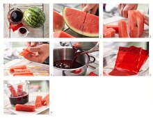 How to prepare melon ice lollies made with fruit juice