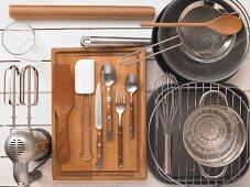 Kitchen utensils for baking cakes