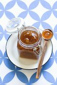 Chutney in a flip-top glass jar