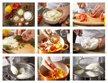 How to make quark dumplings with peppers