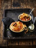 Irish pot pies with lamb and Guinness