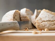 Baguette with wholemeal flour