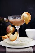 Chocolate mousse with fortune cookies for New Year