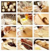 How to prepare a wholegrain quark pastry with plum jam