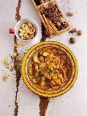 Gemüsetajine mit Fenchel und Kichererbsen (Nordafrika)
