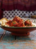 Meatballs with rice (North Africa)