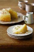 Lemon and Coconut Self-Saucing Pudding