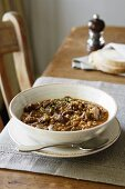 Beef, Mushroom and Barley Soup