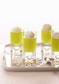 Kiwifruit Jellies with Lemon Sorbet