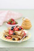 French Toast with Berries and Almonds