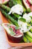 Asparagus with persian feta and fresh basil pesto