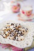Meringue Sticks with Chocolate