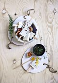 Greek yogurt ice cream with figs and thyme honey