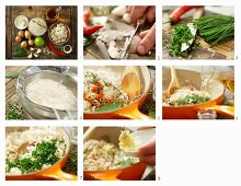 How to prepare basmati rice with carrots and chives