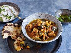 Vegan aubergine and chickpea curry (Pakistan)