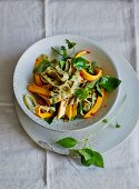 Edamame noodles with herbs, chilli and mango (low carb)