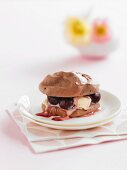 Chocolate Meringues with Cherries (Low Fat)