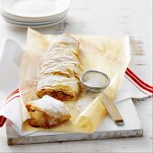 Apricot and Apple Strudel