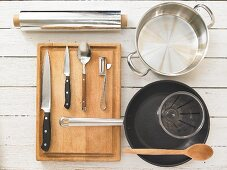 Kitchen utensils for making a venison dish