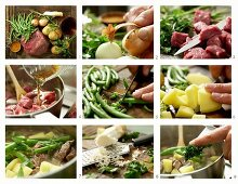 How to make beef stew with green beans