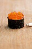 Salmon caviar sushi