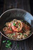 Ramen-Suppe mit Garnelen (Asien)